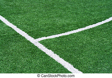 Part of the floor markings of football. - Part of a football...