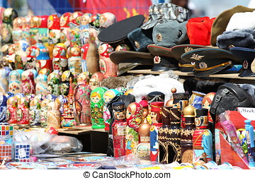souvenir shop - Souvenir shop for tourists, Moscow, Russia,...