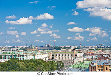 The view from the observation deck of St. Isaac's Cathedral....
