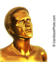 Visionary - Golden Man on white