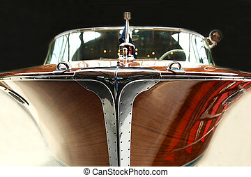 Old Wooden Motorboat - a old wooden motorboat