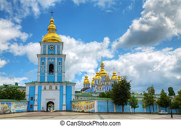 St. Michael monastery in Kiev, Ukraine at a sunny day