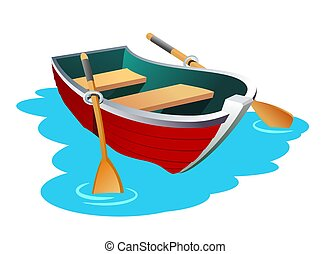 Boat - An illustration of small row boat