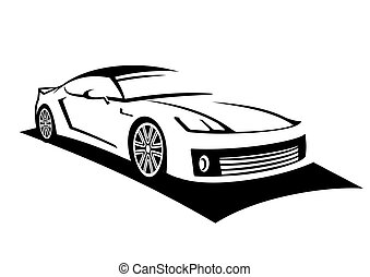 Car line art - My own concept of sports car made with line...