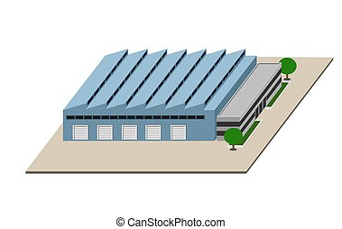 Manufacturing plant - An illustration of Manufacturing plant