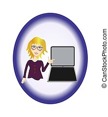 Working Woman with Laptop