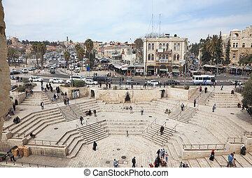 The colossal marble staircase - East Jerusalem from the...