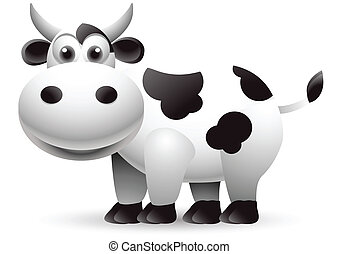 illustration of cow cartoon - vector illustration of cow...