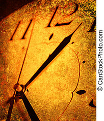 Old clock - Close up of old clock