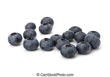 Bilberries or whortleberries cutout