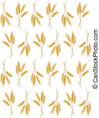 Seamless background with wheat ears