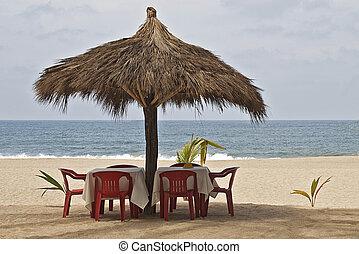 tabla,  Palapa,  ocean-side, ajuste