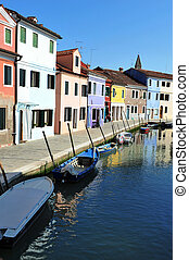 Venice Italy Cityscape Landscape - Colourfully painted...