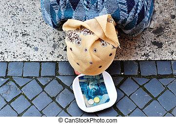 Christian Beggar - Beggar in  the  Vatican city.