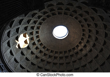 The Pantheon Rome - The Pantheon dome, Rome.