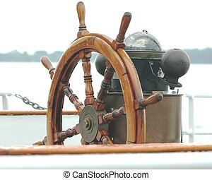 the ships wheel - the helm on a ship
