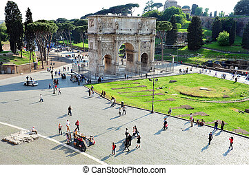 Travel Photos of Italy - Rome - The Arch of Constantine as...