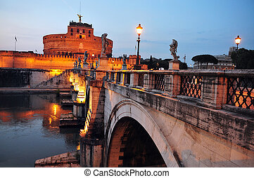 Travel Photos of Italy - Rome - The view of Castel...