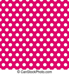 Seamless pink and white polka dots pattern - Seamless...