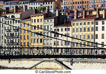 Lyon and footbridge