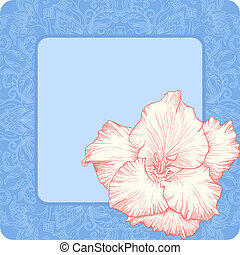 Vector greeting card - Vector illustration with ornament for...