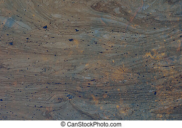 Black oil pollution 18 - A close up of the surface of black...