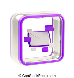 E-mail letter icon application emblem - E-mail letter glossy...