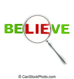 """Lie as a part of the word """"believe"""" - Lie under the..."""