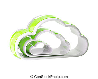 Cloud computing technology icon emblem - Cloud computing...