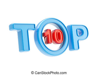 Top-10 emblem symbol isolated - Top ten emblem symbol...