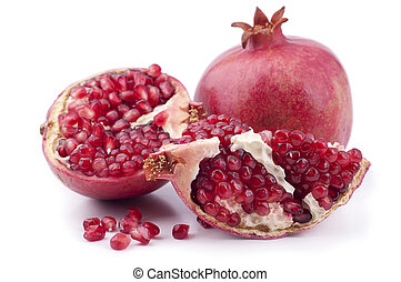 Fresh pomegranate on a white background