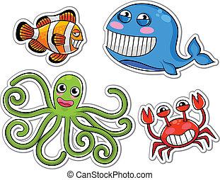 sea creatures - funny cartoon sea creatures
