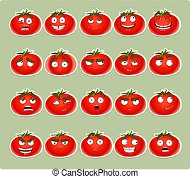 cute cartoon tomato smiles