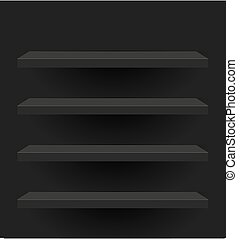 Black vector shelves for your design