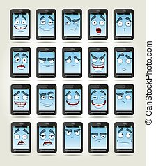set of smiles phones