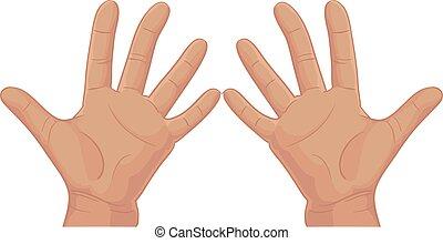 Set of batch ten from fingers