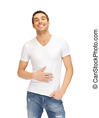 full man in white shirt - bright picture of full man in...