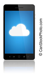 Cloud Computing Connection On Mobile Phone