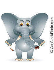 cartoon elephant isolated