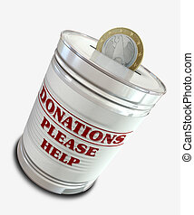 Donation Tin Can - An everyday tin can transformed into a...