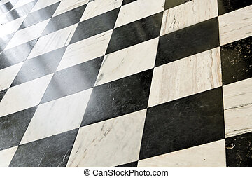 Abstract view of marble floor