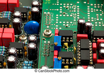 Motherboard - Closeup of a electronic board