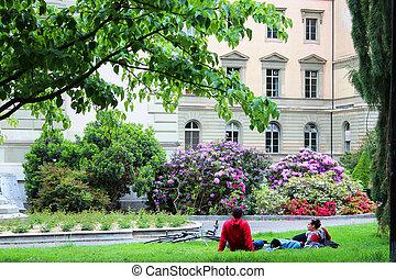 Park in Geneva, France