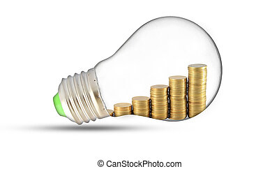 Traditional glass bulb and energy savings