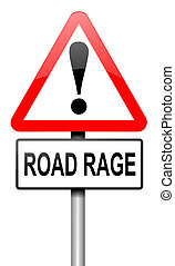 Road rage concept - Illustration depicting a road traffic...