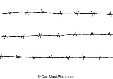 Barbed Wire - Barbed wires isolated on white background