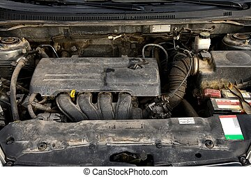 Engine - Old, dirty car engine