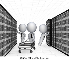 Tech support conceptIsolated on white background3d rendered...