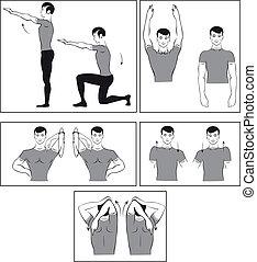 vector, Conjunto, físico, ejercicios
