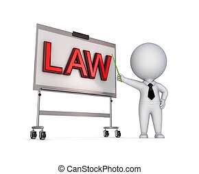LAW concept.Isolated on white background.3d rendered...